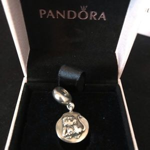 RARE Pandora Year of the Monkey Silver Charm